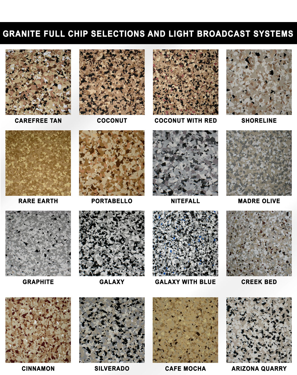 Epoxy Paint Chips : Epoxy garage flooring ma nh me coating concrete paintnh