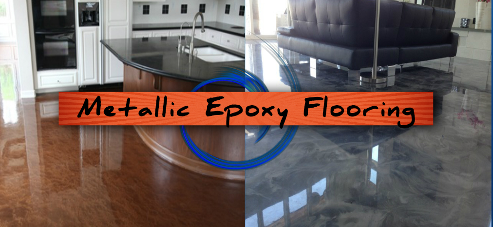 Metallic Epoxy Flooring Basement
